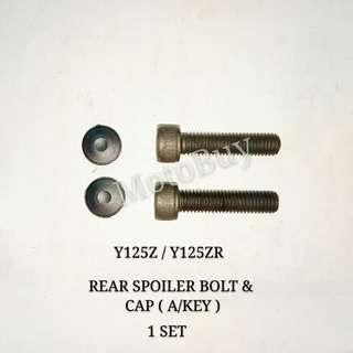 Y125ZR REAR SPOILER BOLT & CAP ( A/KEY )