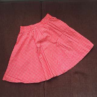 Red Polkadot Skirt / Rok