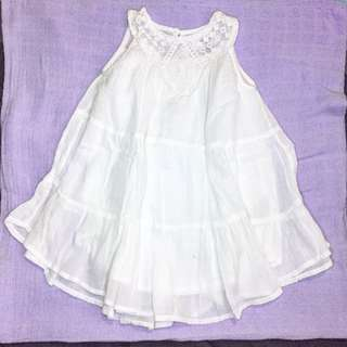 Old navy baby dress white 12/18mos