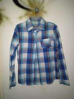 REPRICED Blue Checkered Polo