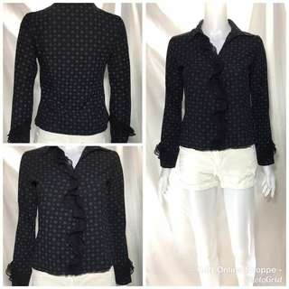 Fashion black  Longsleeve blouse