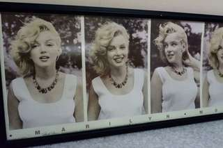 Marilyn Monroe Wall Picture with Glass Frame