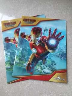 全新迪士尼Iron man文件夾2個