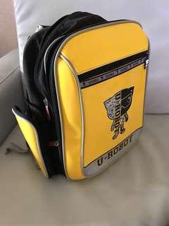 免運費❗️正版 UnMe U-ROBOT 黃色 黑色 護脊書包 減壓書包 書包 背包 後背包 MIT 兒童護脊書包 雙肩包