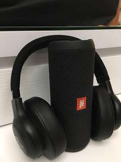 JBL Flip 3 and E55bt Wirless Headset