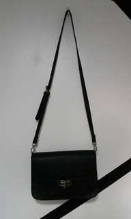 ZALORA black sling bag / side bag
