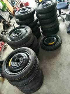 Tyre spare 14 15 16 pcd 100