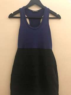 Preloved blue black dress