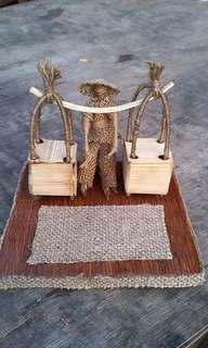 miniatur penjual krak telor
