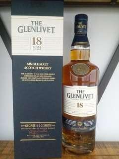 格蘭利威 Glenlivet 18y whisky  威士忌