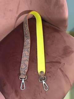 Snake skin bag strap
