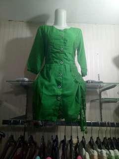 Mini Dress Hijau