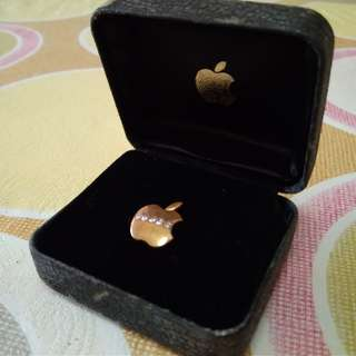 Apple Shape Collar Pin