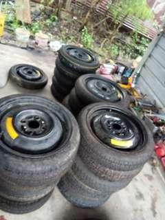Tyre spare myvi Kelisa Kenari