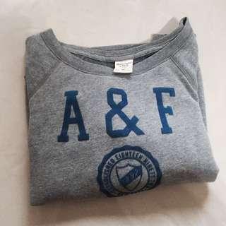 保證正品 Abercrombie Fitch af a&f 大學t 衛衣 女m