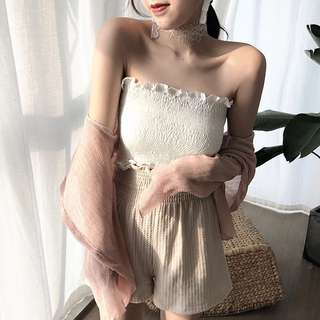 WHITE TUBE TOP (Backorder only)