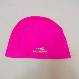 Aquasport Swimming Cap for Adults Use (Free Postage) 桃紅色成人泳帽 (包郵)