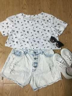 White heart and lollipop shirt