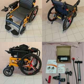 24吋鈦合金鈴充氣輪呔電動輪椅