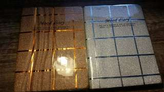 Small notebooks with glitters