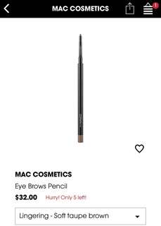 BN M.A.C Cosmetics Eye Brows Pencil - Lingering