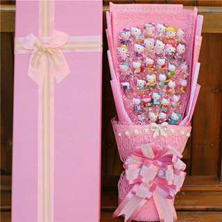*FREE DELIVERY to WM only / Ready stock* Gift bouquet set each as shown in design/color from RM188 stitch 18pcs, RM250 hello kitty 33pcs, RM250 stitch 36pcs. Free delivery is applied for this item.