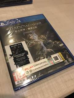 PS4 Middle-Earth Shadow of war (R3)