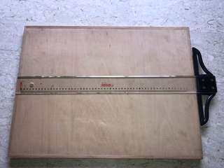 T square ruler and drawing board.