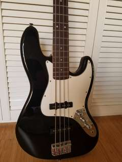 Fender squier jazz bass 連bass 袋