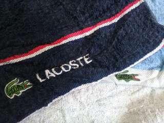 lacoste gym bath towel