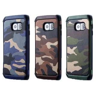 迷彩 軍事風 防撞 Samsung S9 S8 S7 S6 Plus Edge Note 8 手機殼  軟膠內膽+硬外殼