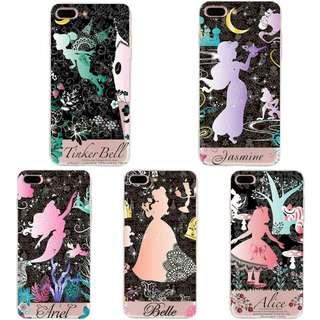 預購👸 Disney 迪士尼公主手機殼 (美人魚/小仙子/愛麗絲/貝兒/茉莉公主)