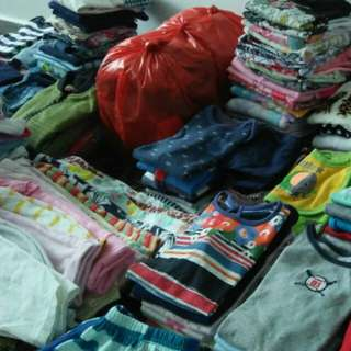 Loads of baby clothing to let go