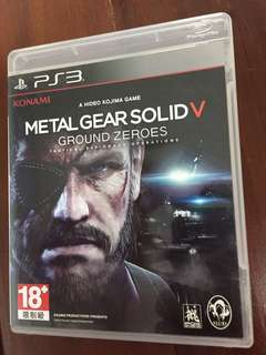 Ps3 Games-metal gear solid v (ground zeroes)