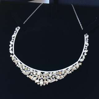 全新 Swarovski henrietta necklace bridal jewelry 新娘水晶頸鍊 wedding gift