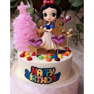 *FREE DELIVERY to WM only / Ready stock, snow white offer RM29* Cake topper/toy each as shown in design/color RM35 belle, RM29 snow white. Free delivery is applied for this item.