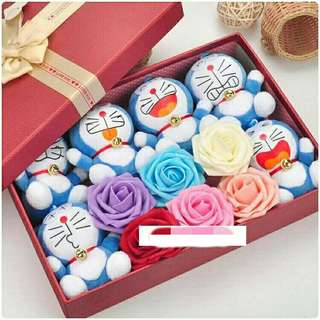 *FREE DELIVERY to WM only / Ready stock* Doraemon bouquet set each as shown in design/color. Free delivery is applied for this item.
