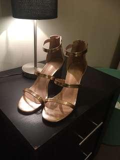 Rose gold heels
