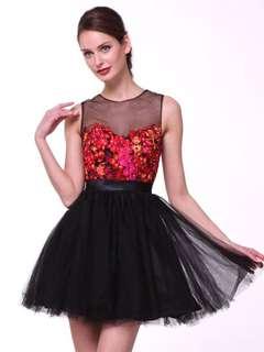 Terranova Bodice Tulle Cocktail Dress