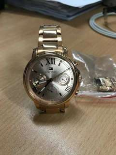 BRAND NEW: AUTHENTIC Tommy Hilfiger Chrono Rose Gold Watch