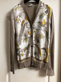 Hermes silk cardigan sz40 used 98% new