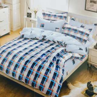 Double Flat bed sheet Cotton King Size with 2 Pillow Covers