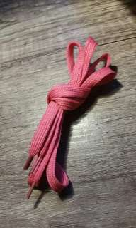 Pink shoelace
