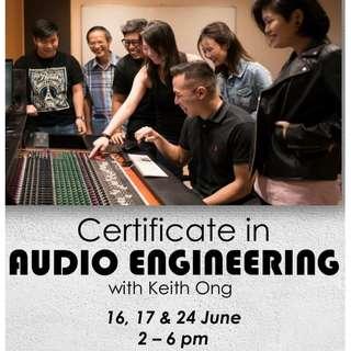 12 Hours Audio Engineering Certificate Course!