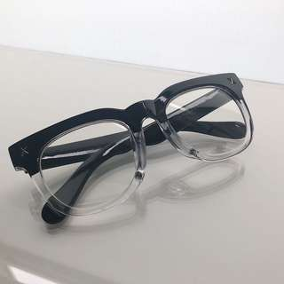 Two Tone Black & Transparent Acetate Glasses