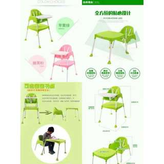 Multifunction Baby High Chair 2in1