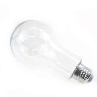 Transparent light bulb plastic holder
