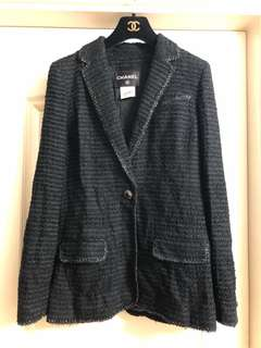 Chanel tweed jacket used sz38