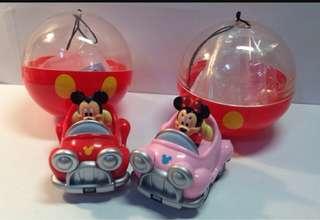 🚚 (全新)迪士尼園區扭蛋 - 米奇、米妮汽車、米奇冰棒/寶可夢杯緣子系列 - 球球海獅