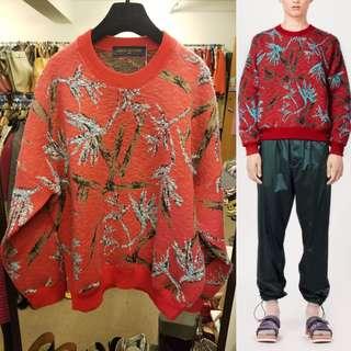 Men 2018 LV louis vuitton red knit sweater size M